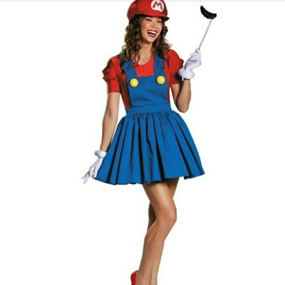 Super Mario Brothers Miss Mario Adult Costume